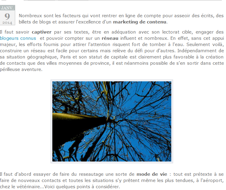 Nouvel article de blog